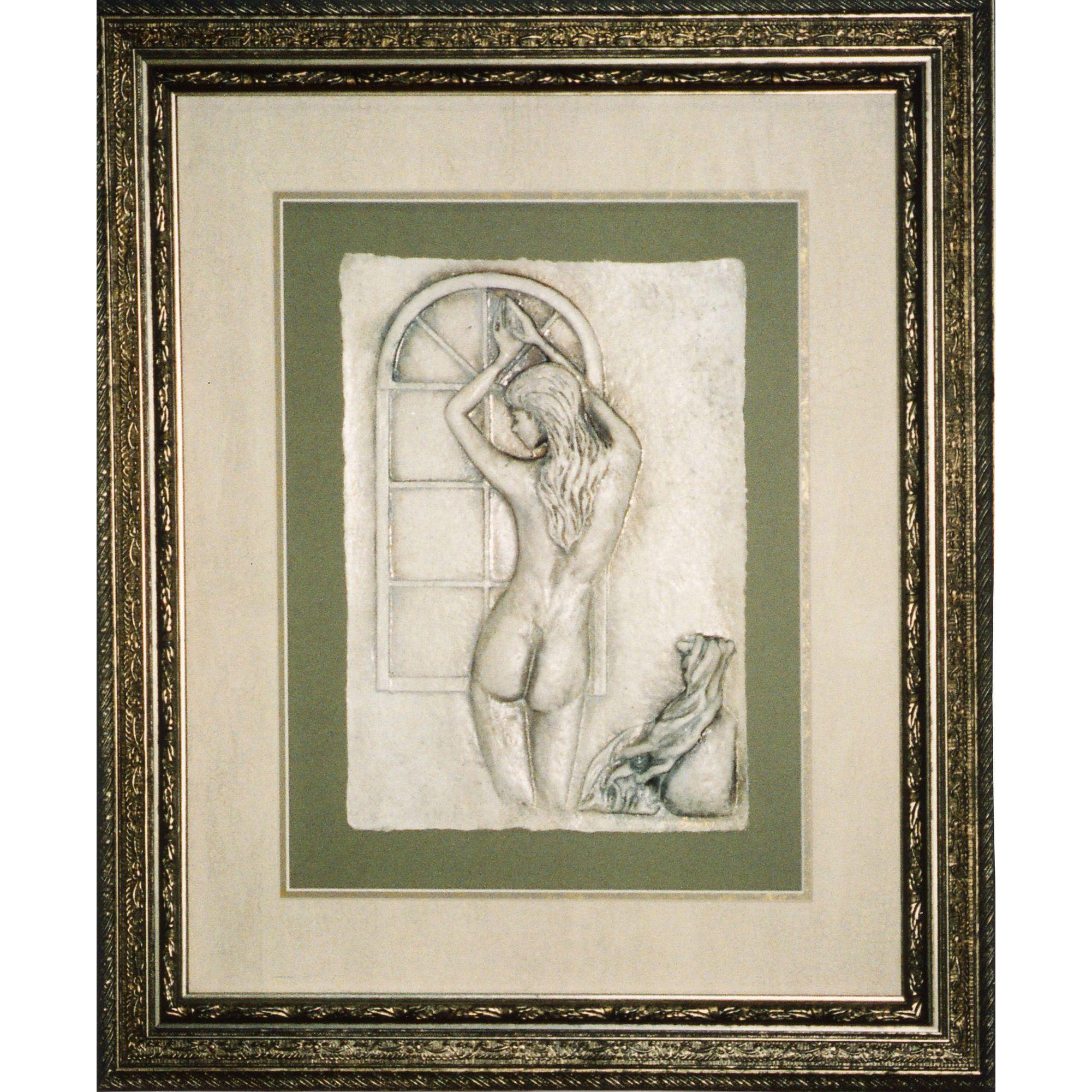 Cast Paper 'Alexandria' 24x28 Indoor/ Outdoor Framed Art