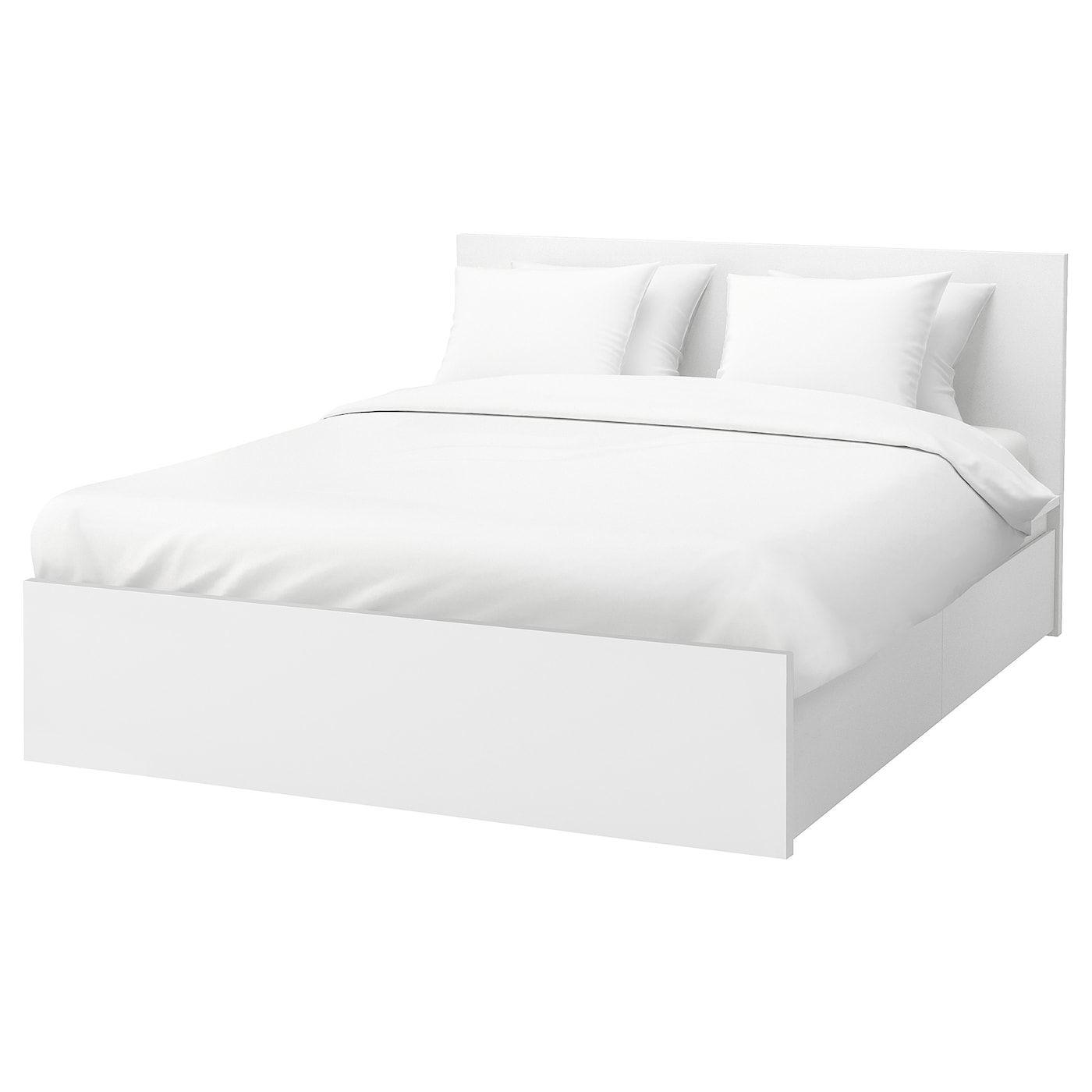 Malm Bettgestell Hoch Mit 4 Schubladen Weiss Lonset Ikea Deutschland Malm Bed Frame High Bed Frame White Bed Frame