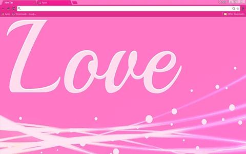 Love Pink Google Chrome Theme Google themes, Chrome web