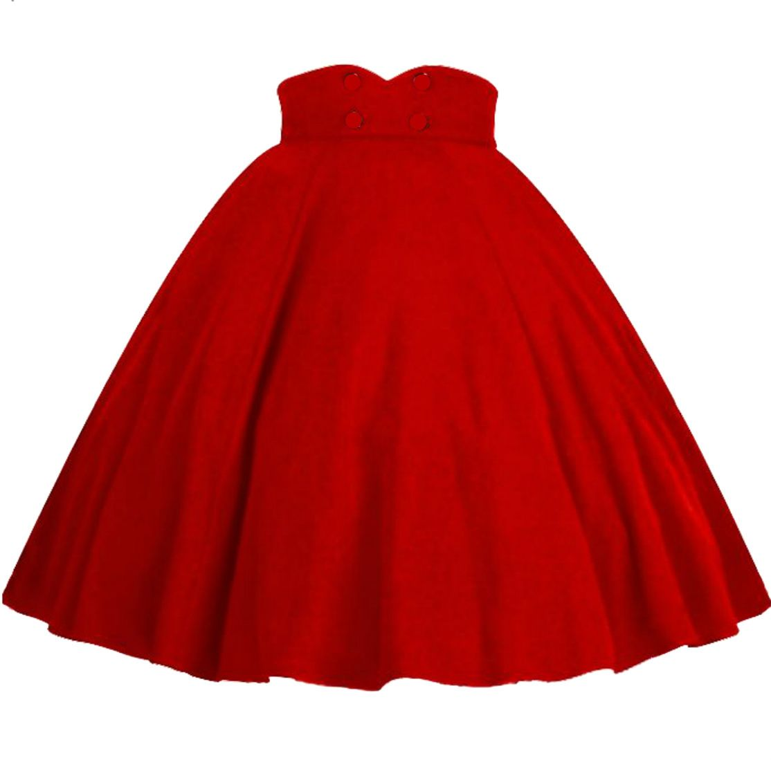 Rockabilly Red Full Circle Swing Skirt AVAILABLE IN SIZES SMALL - XXXL