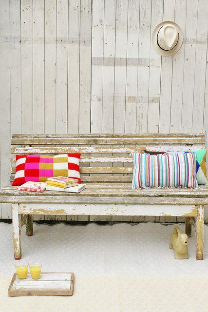 Wood Wool Pillows In The Garden Crochet It