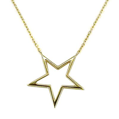 London Road Jewellery Portobello Yellow Gold Open Star Starry Night Necklace glFJf9bW