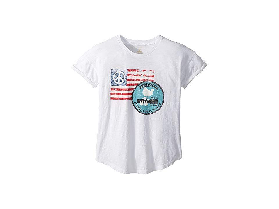 Original Retro Brand The Mens American Flag Short Sleeve Slub Tee
