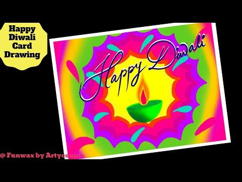 DIY Diwali greeting card drawing | Greeting card ideas | Happy Diwali
