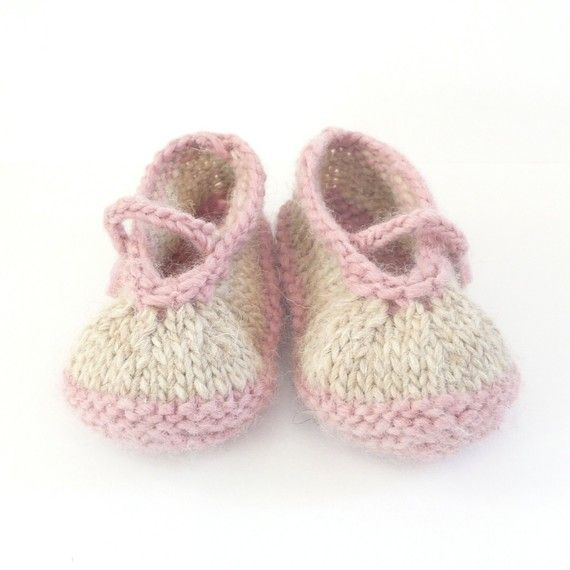 e870ebdeb Baby BOOTIES Knitting PATTERN Simple Seamless Mary by ceradka ...