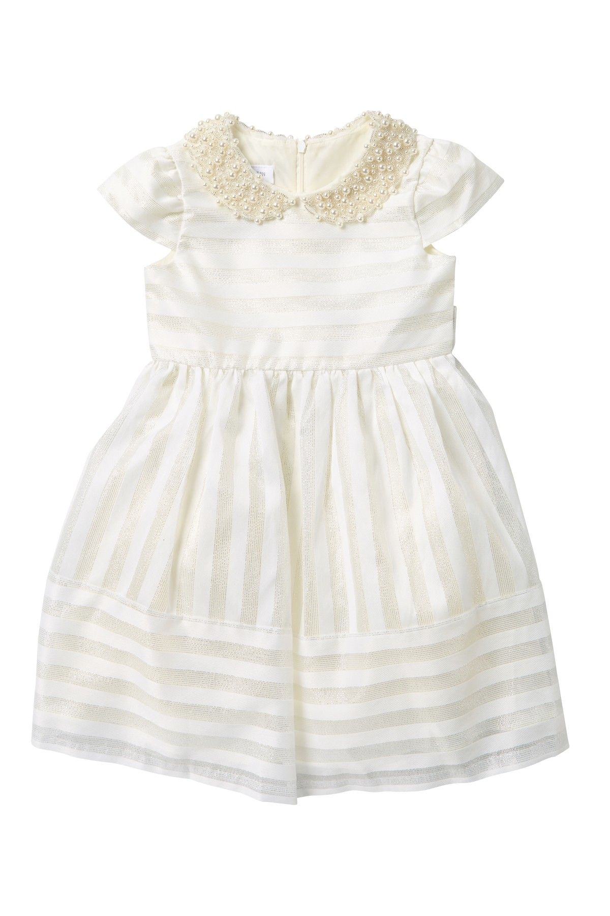 fd276ba3d69c Faux Pearl Embellished Shadow Stripe Dress (Little Girls) by IRIS AND IVY  on  nordstrom rack