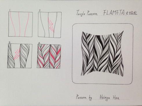 tangle pattern flameta by hoinya hou