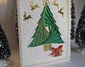 Christmas Tree Card - Iris Folding of Glistening Foils