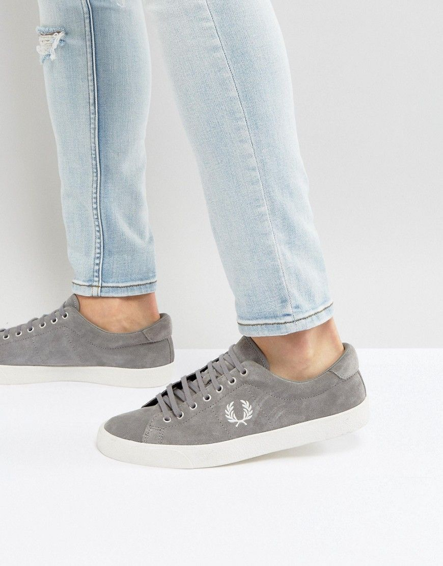 FRED PERRY UNDERSPIN SUEDE CREPE SNEAKERS IN GRAY - GRAY.  fredperry  shoes    06a2d89ed96