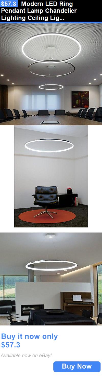 Lamps And Lighting: Modern Led Ring Pendant Lamp Chandelier Lighting Ceiling Light Fixture Led Ring BUY IT NOW ONLY: $57.3