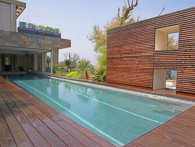 De hoge, gebogen, aangebouwde zwembadoverdekking Zwembaden Pinterest