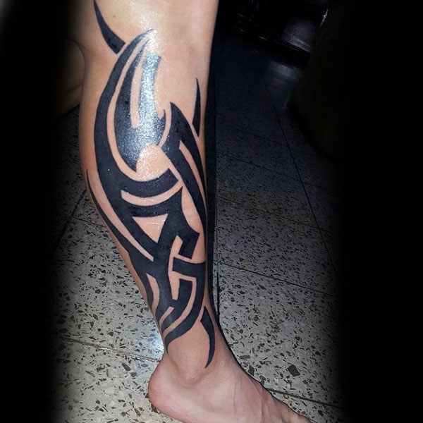 60 Tribal Leg Tattoos For Men Cool Cultural Design Ideas Tribal Tattoos For Men Tribal Tattoos Leg Tattoo Men