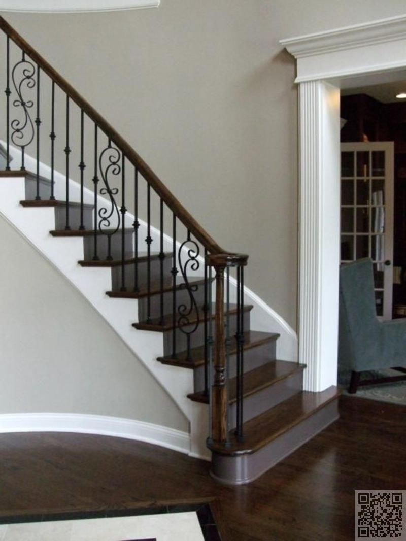 #simple et moderne - 37 #crainte inspirants #escaliers que vous aurez. Stair  Case Railing IdeasWood ...