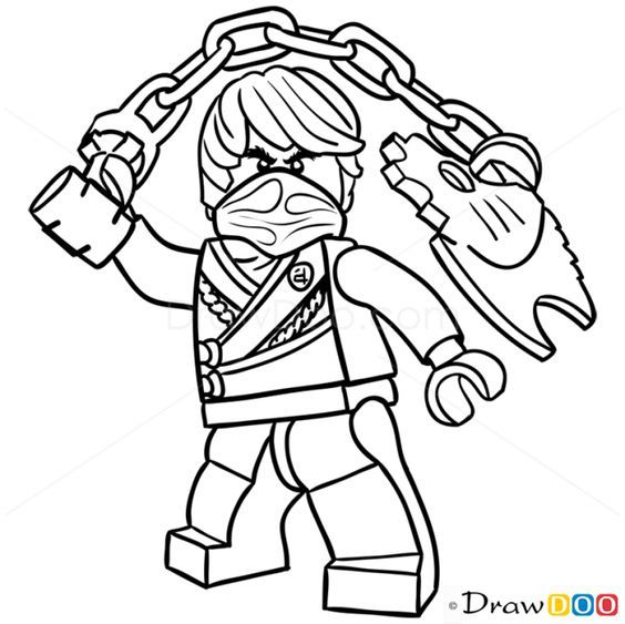 How To Draw Cole Lego Ninjago Lego Coloring Pages Ninjago Coloring Pages Lego Coloring