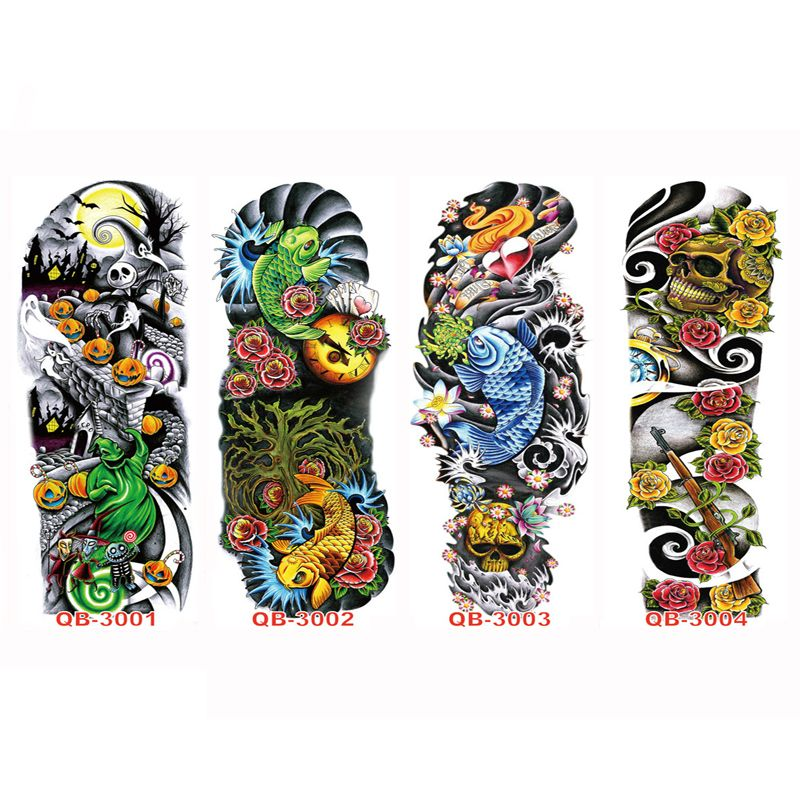 cc1131336 3PC Temporary Tattoo Sleeve Designs Full Arm Waterproof Tattoos For Cool  Men Women Transferable Tattoos Stickers On The Body Art