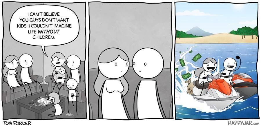 Life of A Child-free Wife | Childfree, Children's comics, I dont want kids