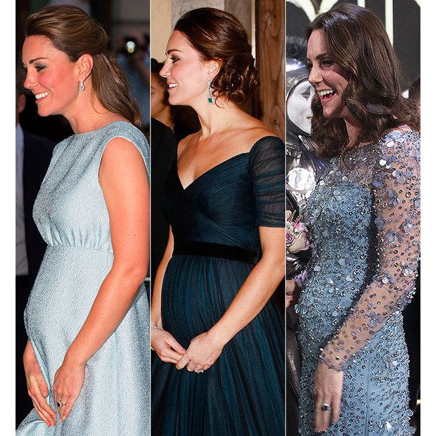Three Of Kate Middleton's Pregnant Red Carpet Looks