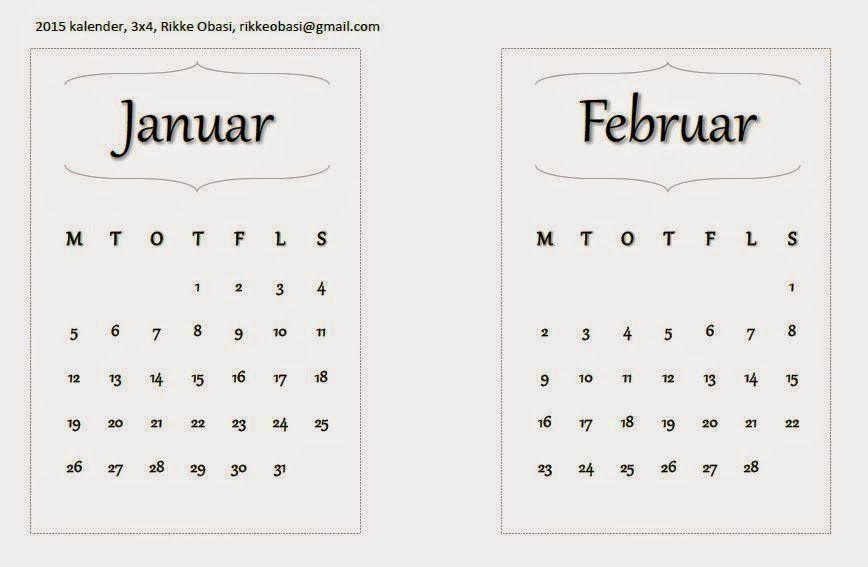 Project Life 2015 kalender-kort