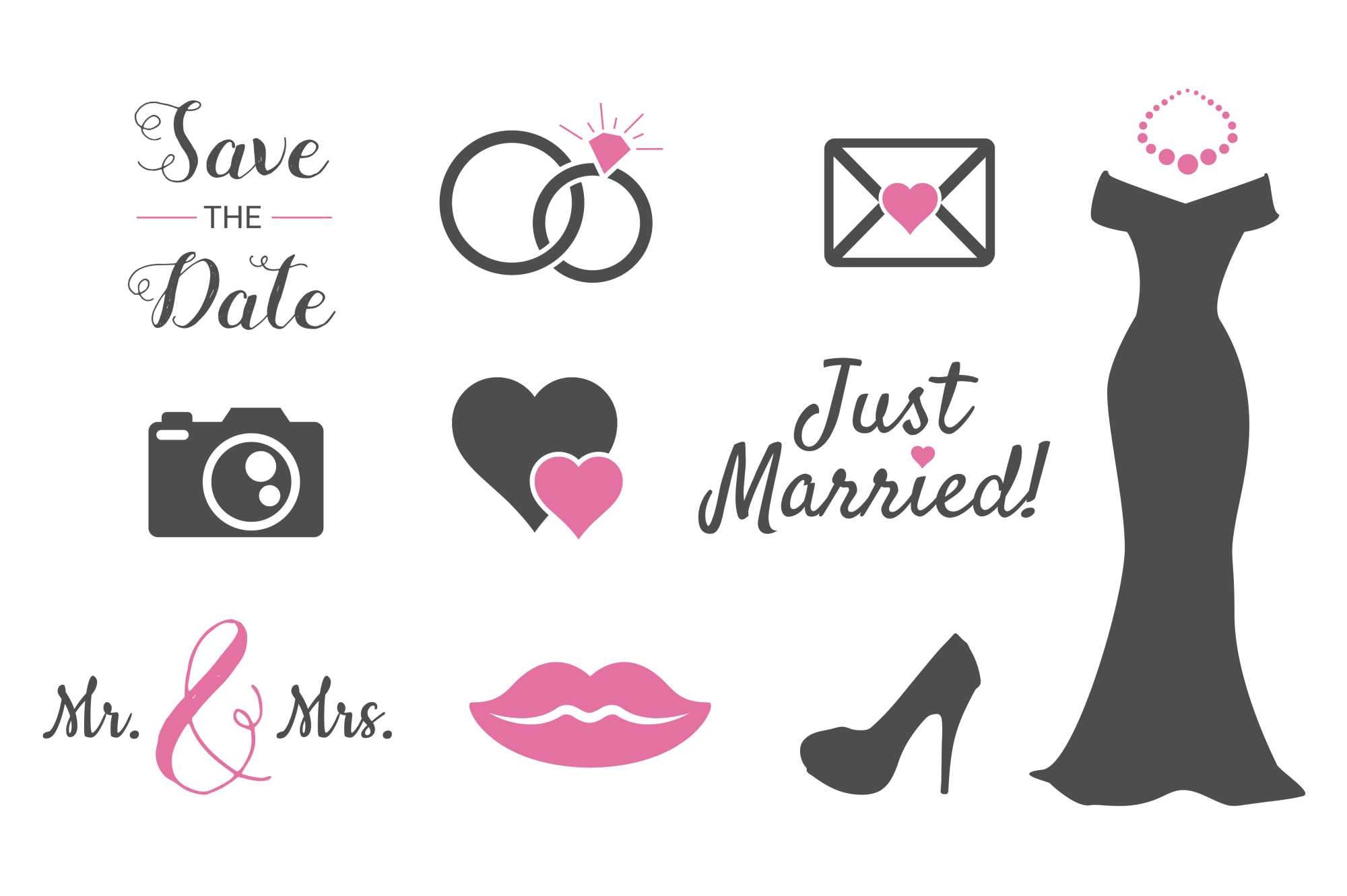 Wedding Silhouettes For Crafters 11980 Svgs Design Bundles Wedding Silhouette Crafters Design Bundles