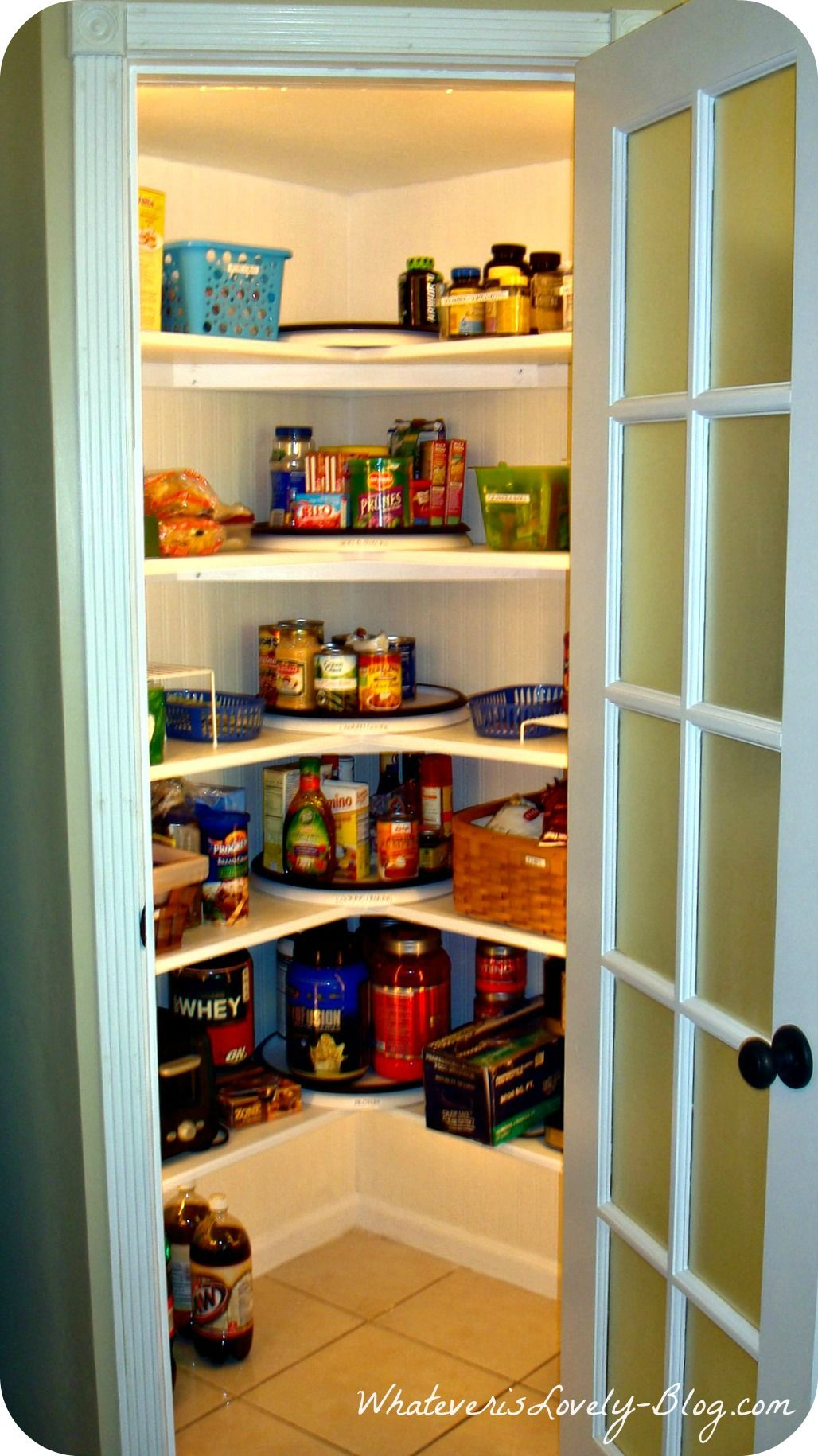 Lighted corner pantry got to have this pantry Corner shelf ideas