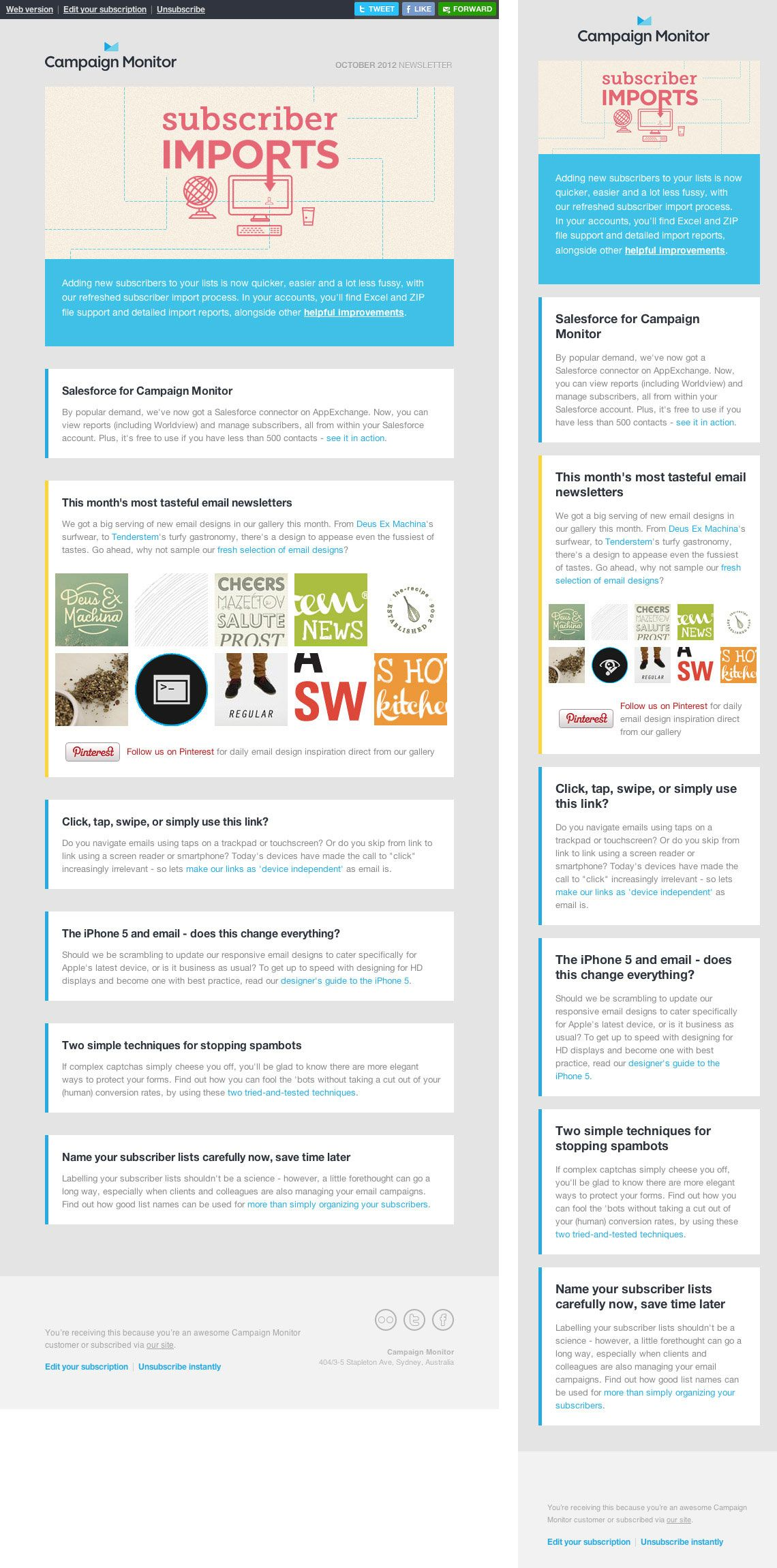 17 Best images about Responsive Email Examples on Pinterest ...