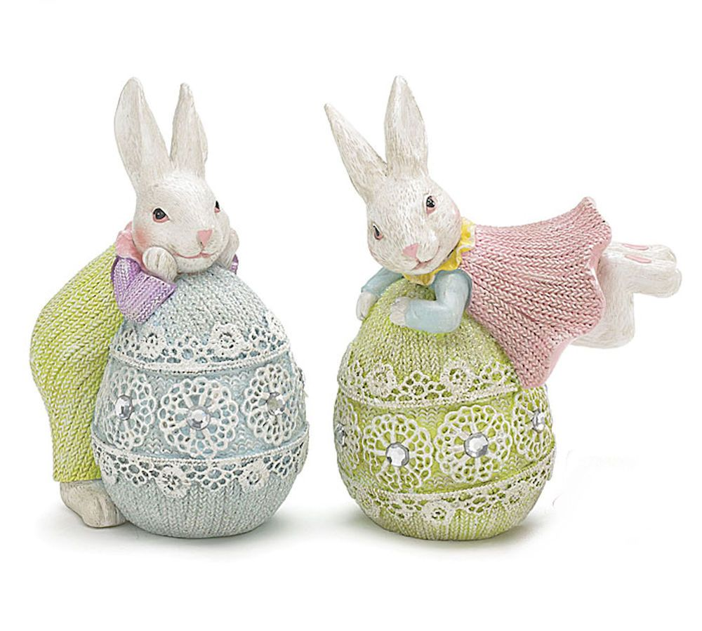 Easter Bunny Rabbit Vase with Egg  *Ceramic Bisque Ready to Paint