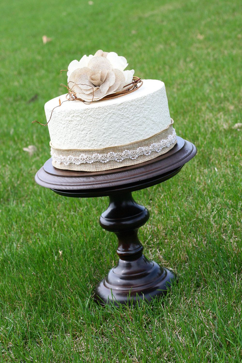 SALE One Rustic Pedestal Cake Stand Candle Holder by hawthornehill, $65.00