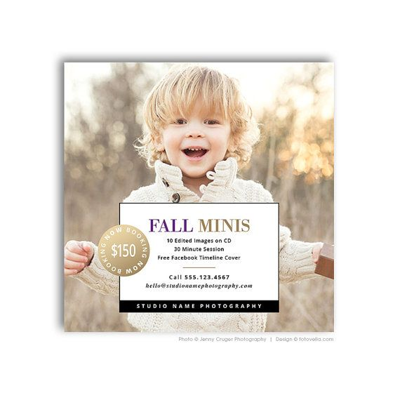 Autumn Mini Session Marketing Template Photography by FOTOVELLA