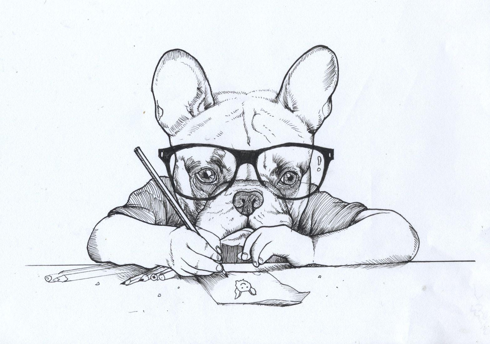 Jeroen Teunen Teunen Self Portrait French Bulldog