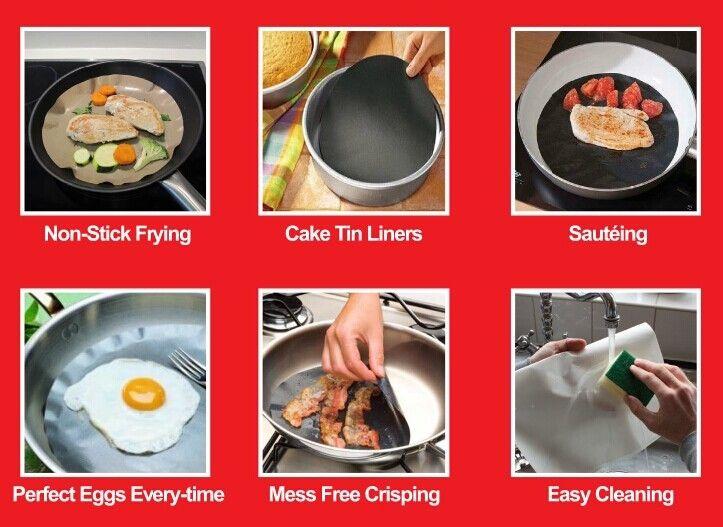 Twin Pack Pan Mat 2 Non Stick Round Pan Liner Sheet Cooking Mat Cooking Tools Cooking Sheet