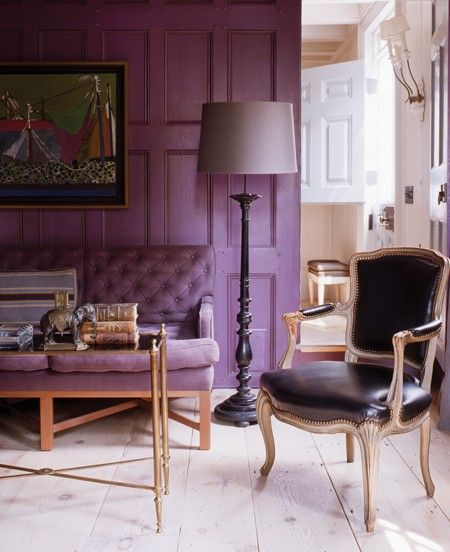 Chic Purple Panelling Photographer Eric Piasecki House Home February 2011 Issue