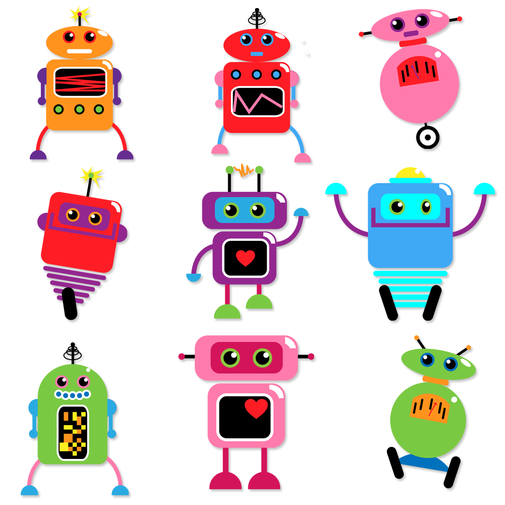 Robots Clipart and Vectors - TulipWorks | Faça vc mesmo !DIY ...