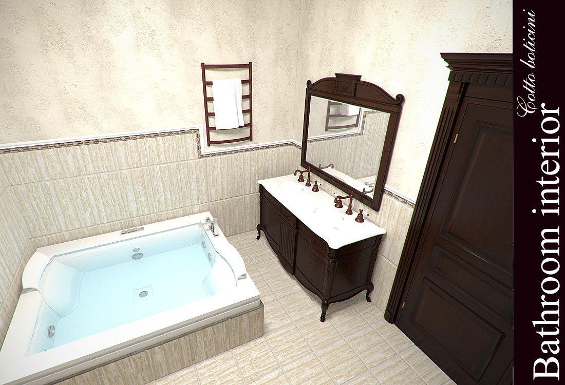 3d model bath cotto boticini bath cotto boticini for 3d bathroom models