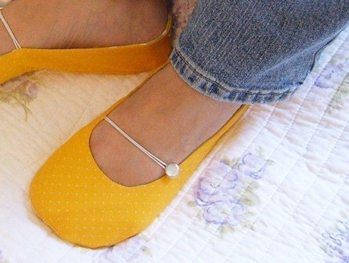 Shoe Sewing Pattern - PDF - Vintage Flair Flats women's size 5 to 11. $4.50, via Etsy.