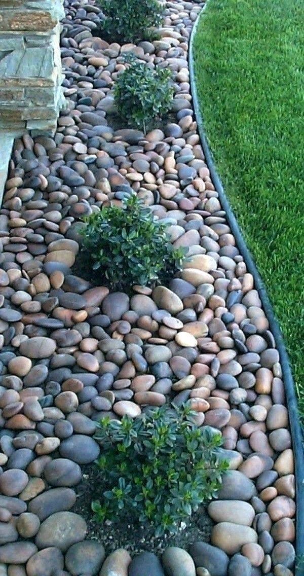 River Rock Garden Bed Rock Garden Bed Ideas Stone Brick River Rock ... #riverrockgardens River Rock Garden Bed Rock Garden Bed Ideas Stone Brick River Rock - Home decor #Home #Ideas #Homedecor #riverrockgardens