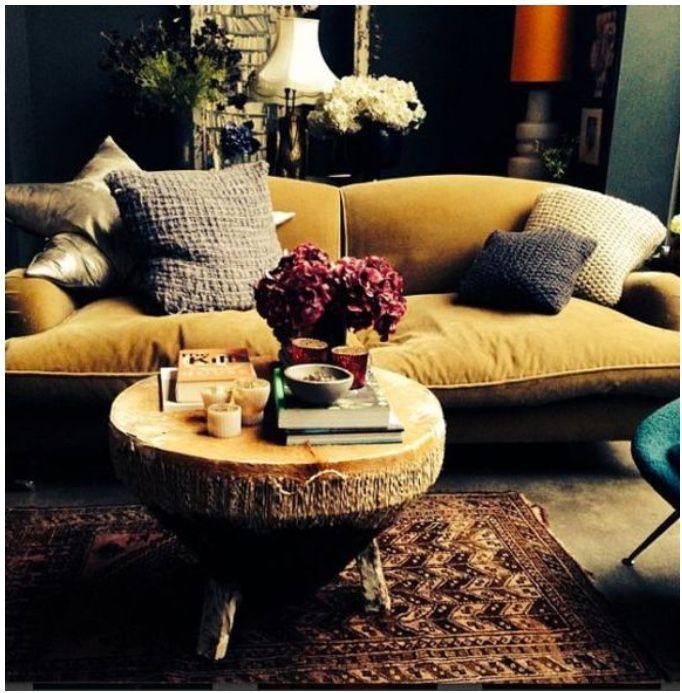 Best Ochre Mustard Velvet Sofa With Grey Blue Green Walls 400 x 300