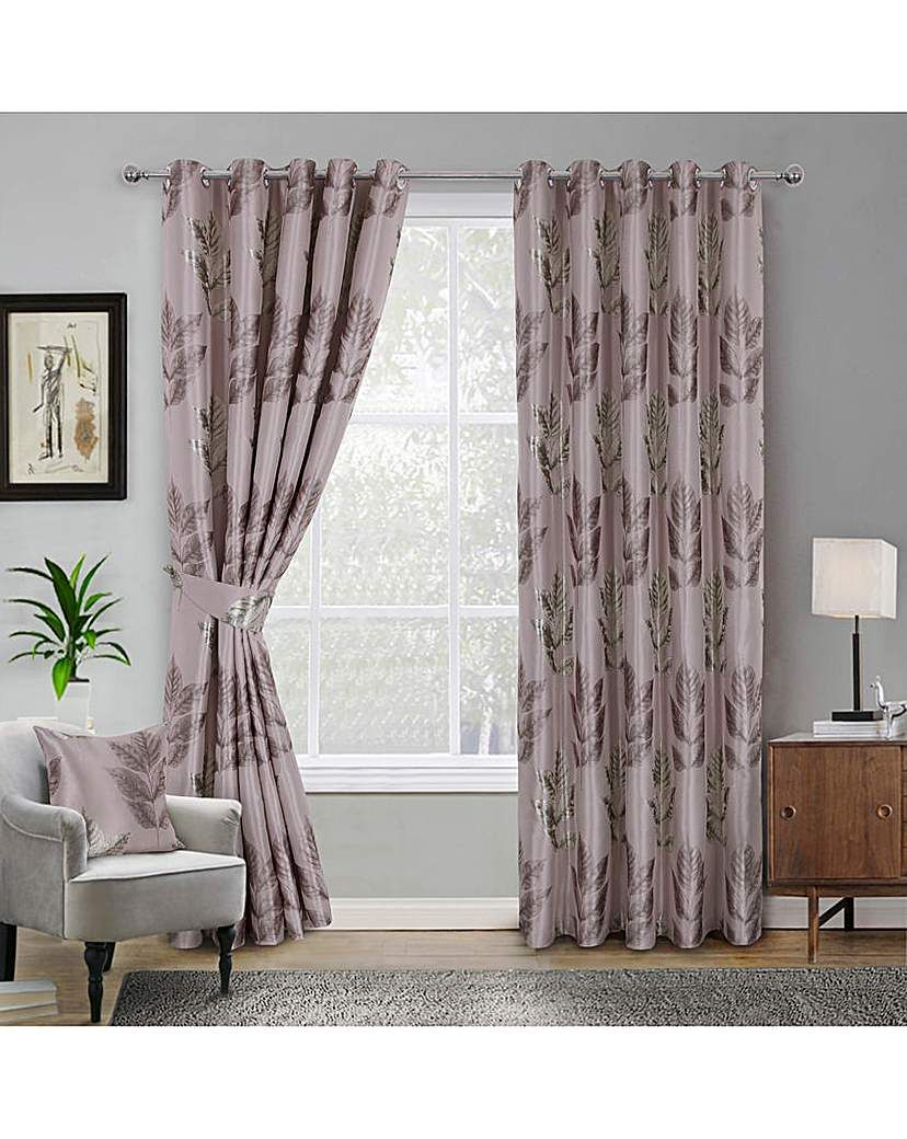 Jd Williams Blakely Leaf Jaquard Eyelet Curtains Pale Pink In 2021 Leaf Curtains Home Home Decor