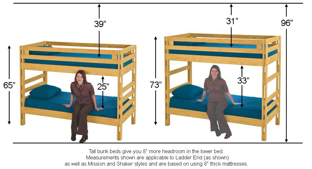 Bunk Bed Dimensions Height Bunk Beds Bunks Bed