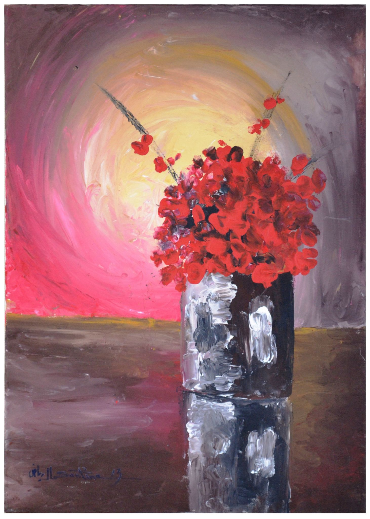 Flower vase oil painting type oil on canvas size 70 x 50 cm flower vase oil painting type oil on canvas size 70 x 50 cm floridaeventfo Images