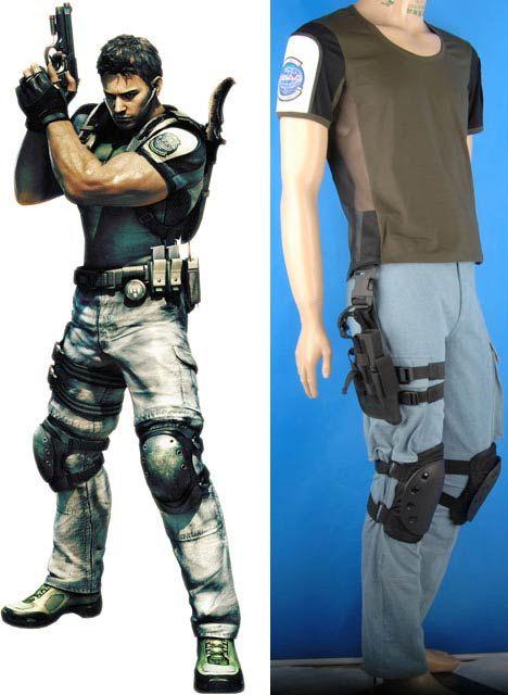 Resident Evil Chris Redfield cosplay costume deluxe fancy gift