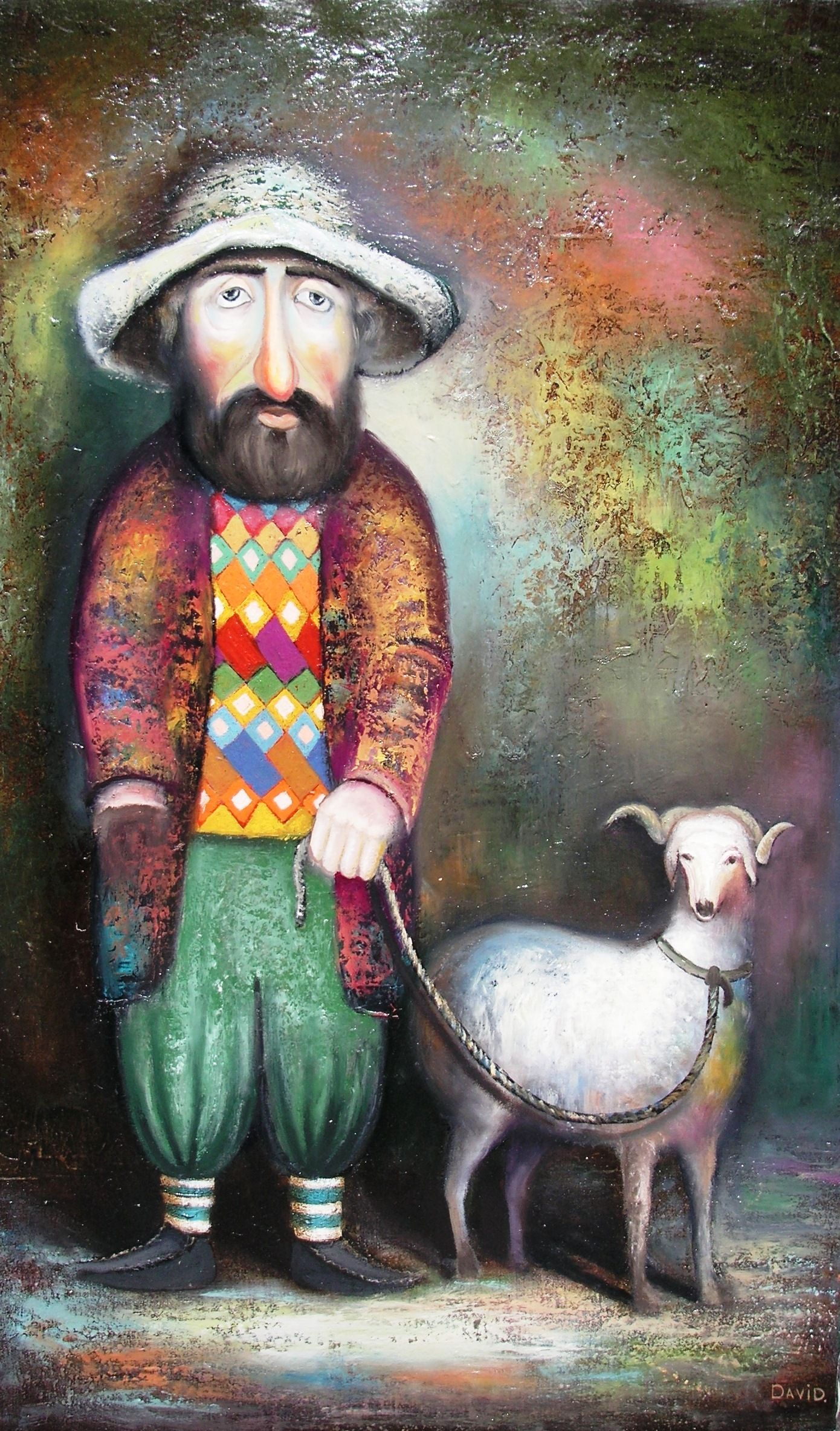 Baranovets by David Martiashvili - man and goat
