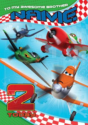 Personalised Disney Planes Birthday Card From Www Funkypigeon Com Disneyplanes Disney Funkypigeon Per Disney Planes Birthday Planes Birthday Personal Cards