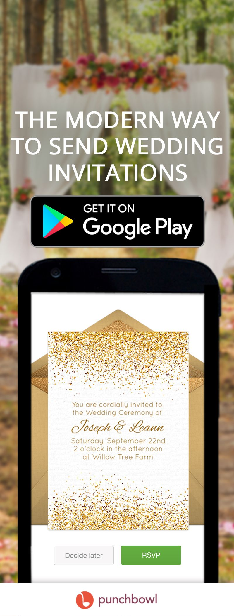 Send Free Digital Wedding Invitations by text message or