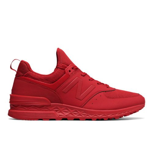 info for b552b 02125 574 Sport Men s Sport Style Shoes - Red (MS574SCP)   Products   Mens red  shoes, Sneakers fashion, Sneakers