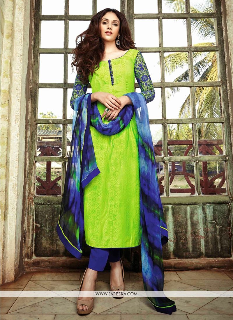 Sea Green Printed Pant Style Salwar Suit | Colors, Printed pants ...
