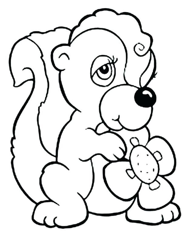 25+ Furry Animals Black And White Clipart Clipart