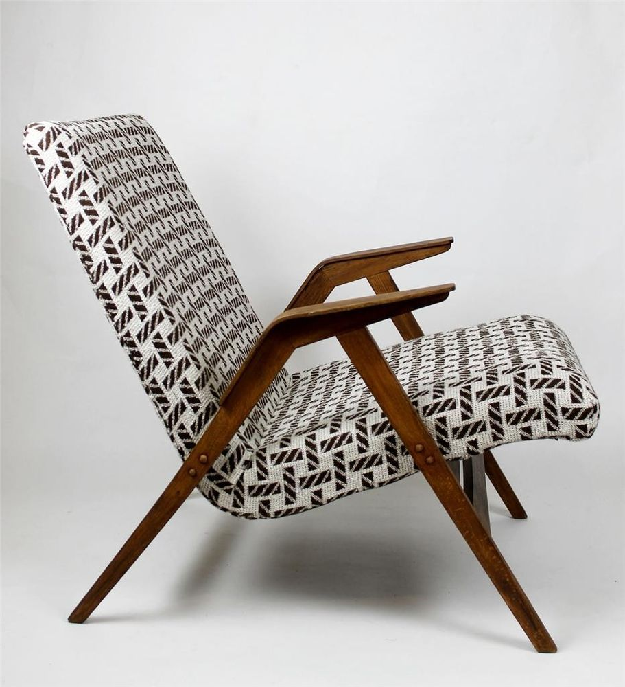 Retro modern chairs - Lounge Chair Reupholstered Germany Mid Century Modern