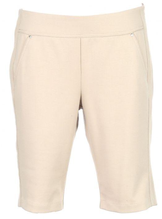 a0c385fd9fe Essentials Khaki SPECIAL Greg Norman Ladies   Plus Size Ponte Golf Shorts!  More stylish ladies plus size outfits at  lorisgolfshoppe