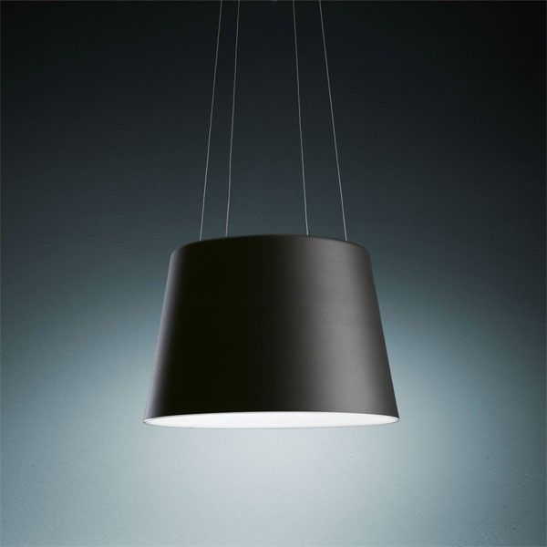 Tolomeo Mega Sospensione Hanglamp Armatuur Zwart Artemide Hanglamp Zwart Lampenkap