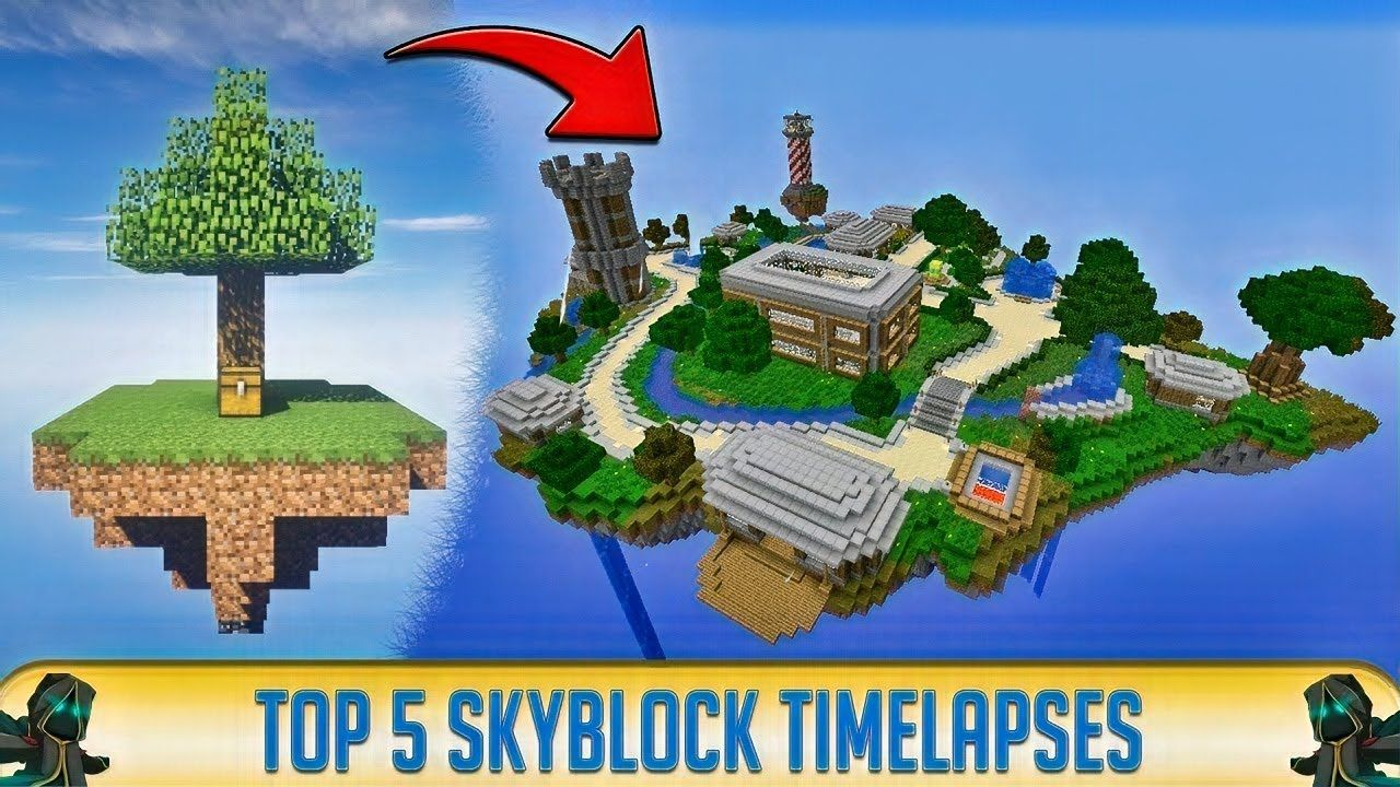 Minecraft Top 5 Skyblock Speedrun Timelapses 2019 The